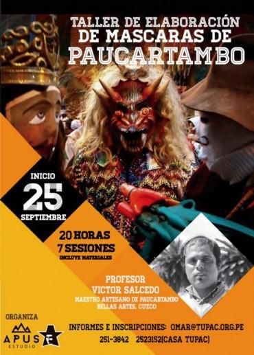 Taller de máscaras de Paucartambo en Tupac