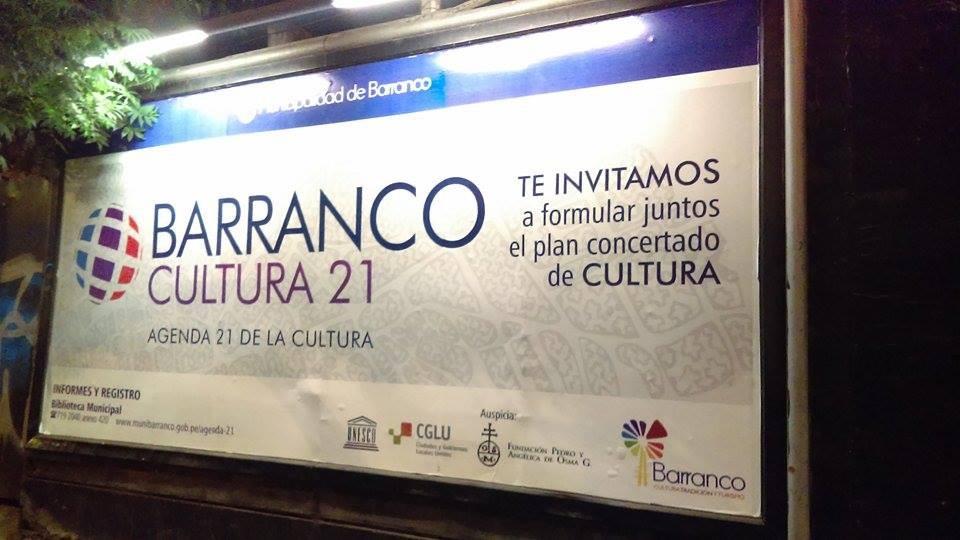 Barranco se ha adherido a la Agenda 21 de la cultura