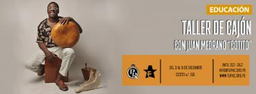 "Taller de cajón con Juan Medrano ""Cotito"" en Tupac"