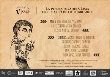 Del 15 al 19 de octubre, la poesía invadirá la ciudad