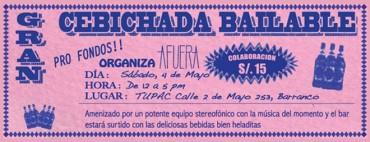 Atención: Cebichada pro fondos, previo a Noche en Blanco